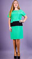 Женское изысканное и утонченное летнее платье габардин размеры 50 52 54 56 58 60 62 64