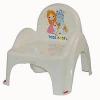 Детский горшок-кресло Веселка Принцесы LP-007 белый Tega 575