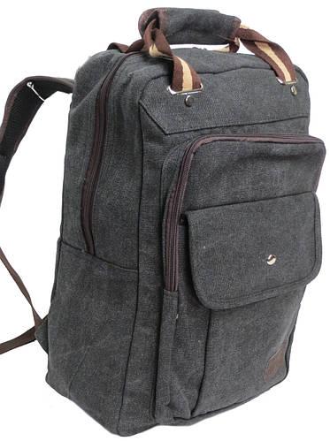 Котоновый городской рюкзак-сумка с отделом для планшета, 15 л. Wendesi 419, серый