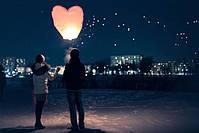 Небесный фонарик Сердце розовый, фото 3