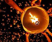 Небесный фонарик Сердце оранж , фото 3