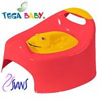 Детский горшок Жабка (Frog) с крышкой AG-004 красные с желтой крышкой Tega 60361