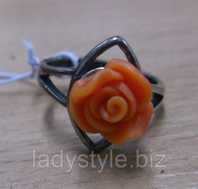 купить украшения  с натуральным кораллом серьги кольцо