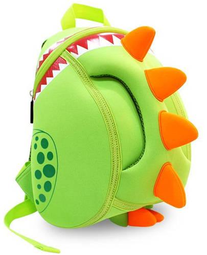 Восхитительный детский рюкзак дракон  Nohoo NH023 салатовый на 4 л