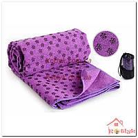 Коврик-полотенце для йоги Yoga mat towel фиолетовый