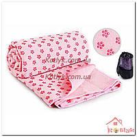 Коврик-полотенце для йоги Yoga mat towel розовый