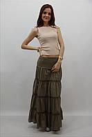 Недорогая летняя женская юбка в пол