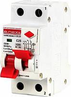Дифавтомат Выключатель дифференциального тока e.elcb.stand.2.C25.30, 2р, 25А, C, 30мА с разделенной рукояткой
