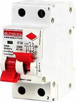 Дифавтомат Выключатель дифференциального тока e.elcb.stand.2.C10.30, 2р, 10А, C, 30мА с разделенной рукояткой