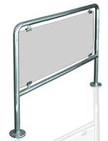 Ограждение со стеклом из нержавеющей стали