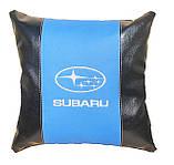 Подушка для автомобіліста декоративна з логотипом Subaru субару, фото 4