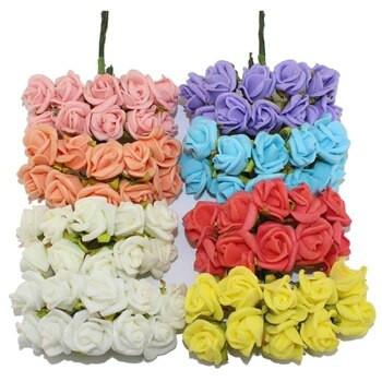 Цветы из латекса (фоамирана)