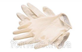 Перчатки латексные не опудренные(размер М)1 пара