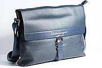 Мужская сумка синего цвета Salvatore Ferragamo 35310-3