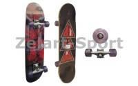 Скейтборд в сборе(роликовая доска)KEPAI SK-2451A(колесо PU, р-р деки 76.5*23.5*1.2см,ABEC-5)