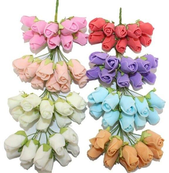Цветы из латекса (фоамирана) на ножке