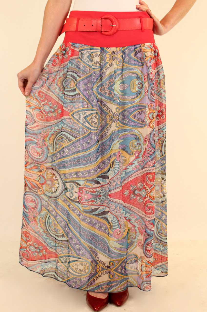 Длинная шифоновая юбка в пол 42-48 р
