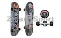 Скейтборд в сборе(роликовая доска)RADIUS RAD-211A(колесо PU, р-р деки 76*18.5*1.1см,ABEC-7)