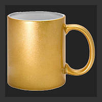 Нанесение изображения на чашку перламутровую золотистую., фото 1