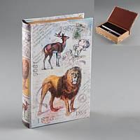 """Книга-сейф """"Лев на охоте"""" 26х17х5 см"""