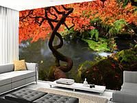 """Фотообои """"Дерево над водой"""", Фактурная текстура (холст, иней, декоративная штукатурка)"""