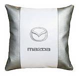 Автомобильная подушка в машину с вышитым логотипом мазда Mazda, фото 5