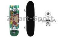 Скейтборд в сборе(роликовая доска)SK-3108AA-4(колесо PU, р-р деки 79*20*1.2см,ABEC-5,алюмин.подв)