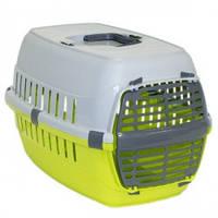 Moderna МОДЕРНА РОУД-РАННЕР 1 переноска для собак и кошек, с пластиковой дверью, 51х31х34 см, зеленый