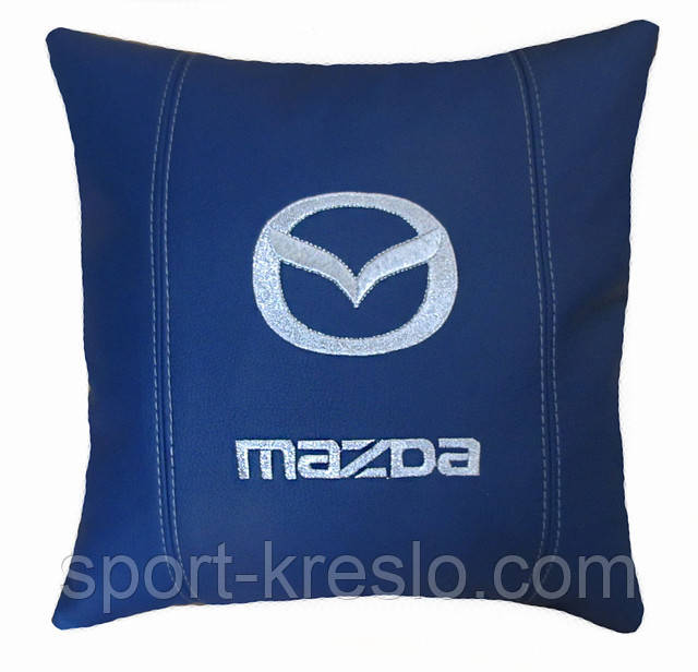 подушка логотип mazda
