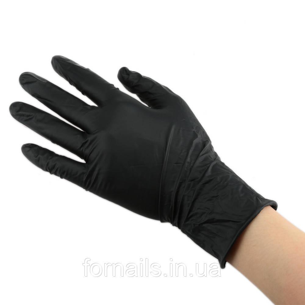 Перчатки нитриловые черные, р-р XS, 1 пара