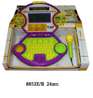 Детский развивающий компьютер 8852 E/R с CD, мышкой, наушниками и микрофоном.