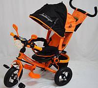 Велосипед детский трехколесный оранжевый Lamborghini c фарой WS-610F