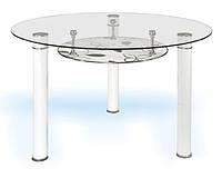 Обеденный стол из стекла круглый