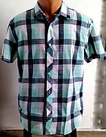 Рубашка мужская в клетку р.44-46