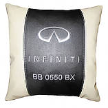 Авто Подушка подарок в машину с логотипом Infiniti инфинити, фото 2