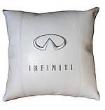 Авто Подушка подарок в машину с логотипом Infiniti инфинити, фото 3