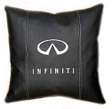 Авто Подушка подарок в машину с логотипом Infiniti инфинити, фото 4