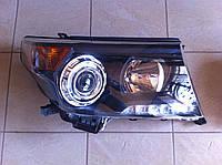 Передние фары (темные) Toyota Land Cruiser 200