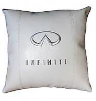 Подушка сувенирная с логотипом Infiniti инфинити