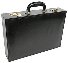 Мужской кейс-дипломат из эко кожи 4U Cavaldi черный A1101