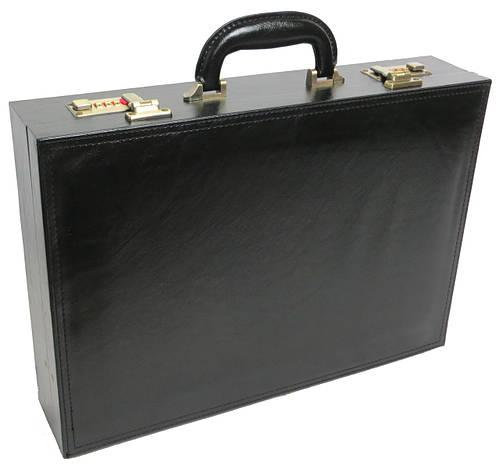 Мужской кейс-дипломат из искусственной кожи 4U Cavaldi черный A1101 ШхВхГ: 44х32х10 см.