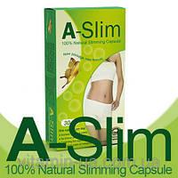 Настоящие Капсулы для похудения A-slim А-слим (пробник 6 капсул)