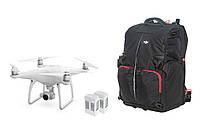 Квадрокоптер DJI Phantom 4 с двумя дополнительными батареями и рюкзаком для Phantom