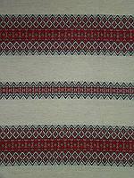 Декоративная ткань с украинским орнаментом Проминь ТДК-34 2/1, 1/6 столовый текстиль,ткань с орнамен