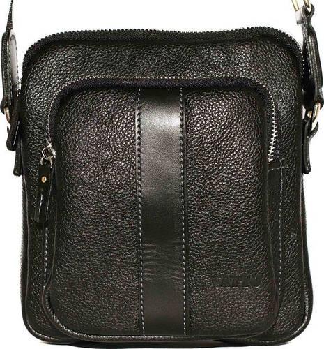 Практичная мужская сумка на плечо из натуральной кожи VATTO Mk-48FL8Kаz1 черная