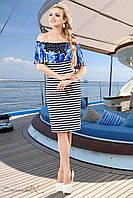 Женское летнее облегающее платье ткань масло