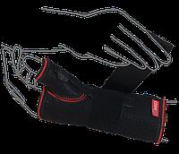 Бандаж на лучезапястный сустав с ребром жесткости (с фиксацией пальца) ReMED, (серый/черный)
