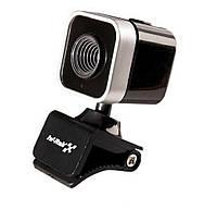 Веб камера с микрофоном Hi-Rali HI-CA010: 640х480, USB 2.0, 60 к/с, ручная фокусировка, прищепка