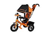 Детский трехколесный велосипед Azimut Lamborgini ФАРА пена оранжевый с ключом