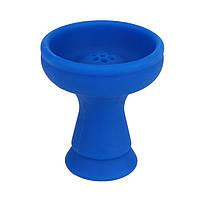 Чаша KLN Black для кальяна силиконовая наружная черная  Синий